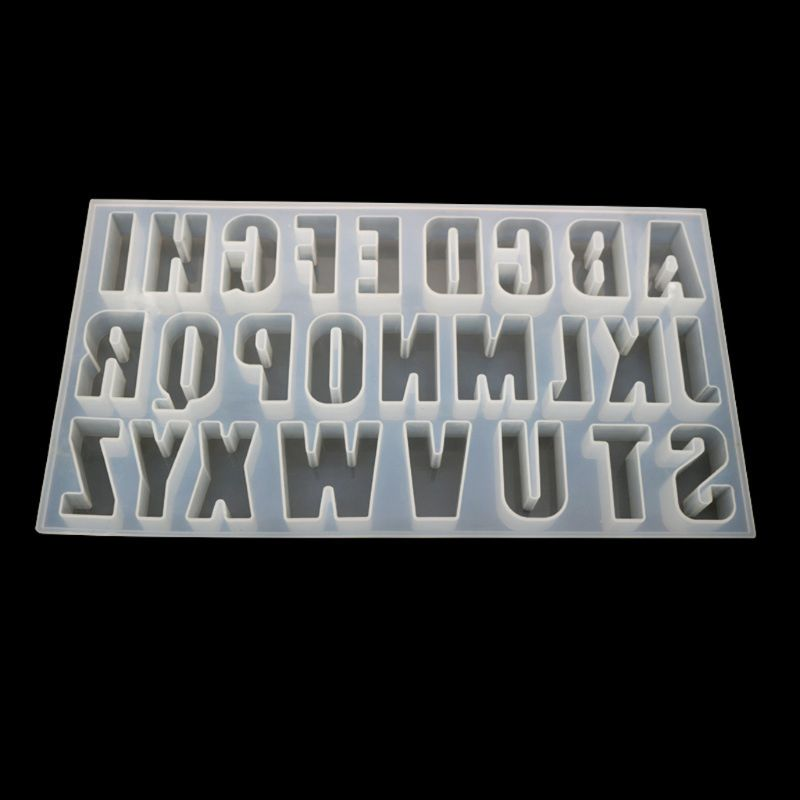 26 English Letters Alphabet Molds Jewelry Making Tools Epoxy Resin Silicone Mold