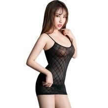 Bodycon Dress Robe Clubwear Spaghetti-Strap Vestidos Sexy Minifalda Mesh Fantasy Sheer