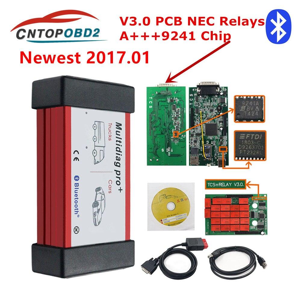 Multidiag Pro + 2016,00 keygen NEC Relais Bluetooth V 3,0 9241 Chip 2016.R Obd2 Scanner Auto Diagnose Werkzeug 2017,01 für auto Lkw