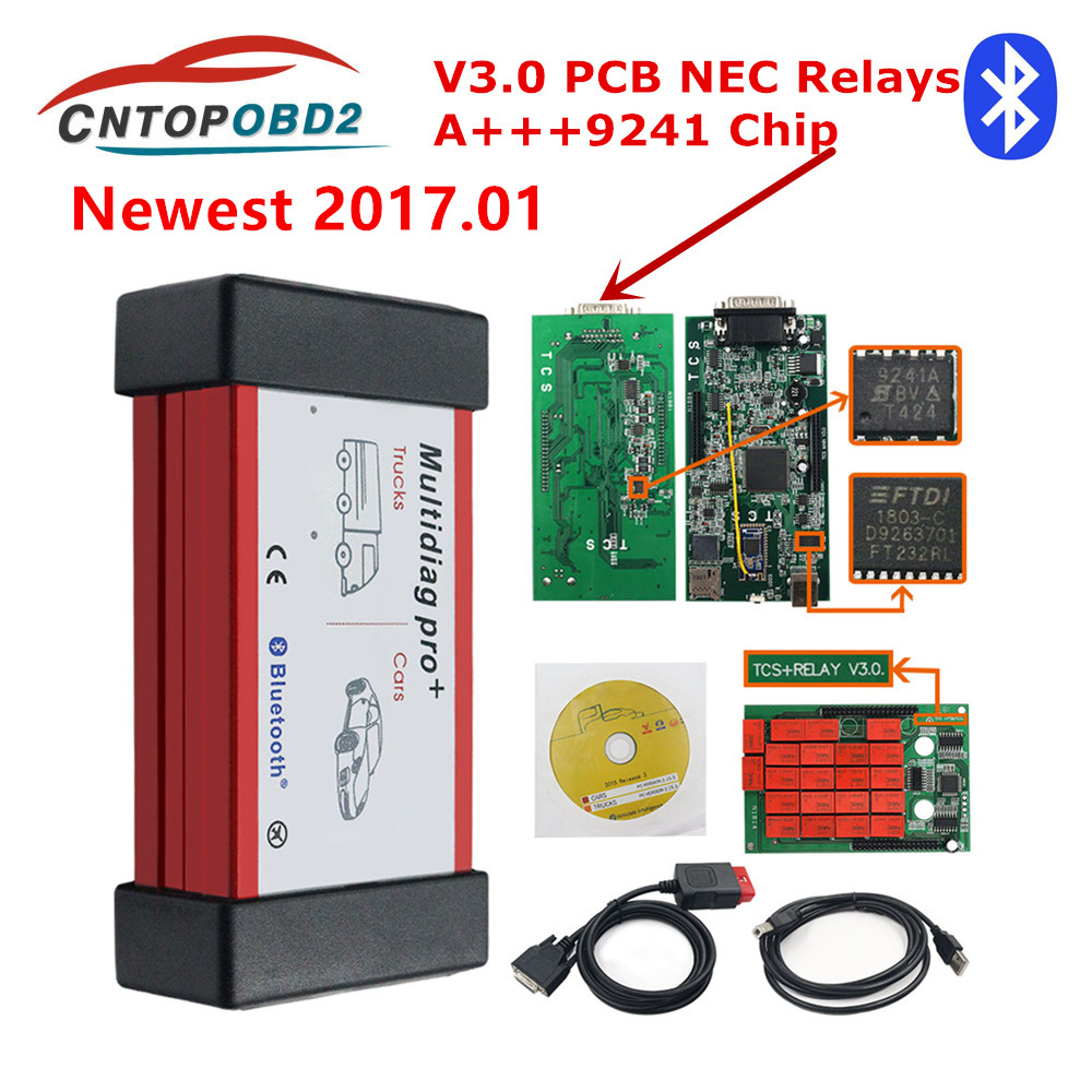 Multidiag Pro   2016 00 keygen NEC Relays Bluetooth V3 0 9241 Chip 2016 R Obd2 Scanner Car Diagnostic Tool 2017 01 for Car Truck