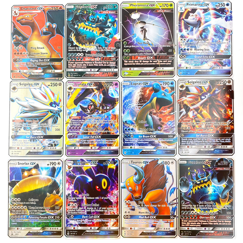 Image 3 - 300 Pcs no repeat Pokemons GX card Shining TAKARA TOMY Cards Game Battle Carte Trading Children Toy-in Game Collection Cards from Toys & Hobbies