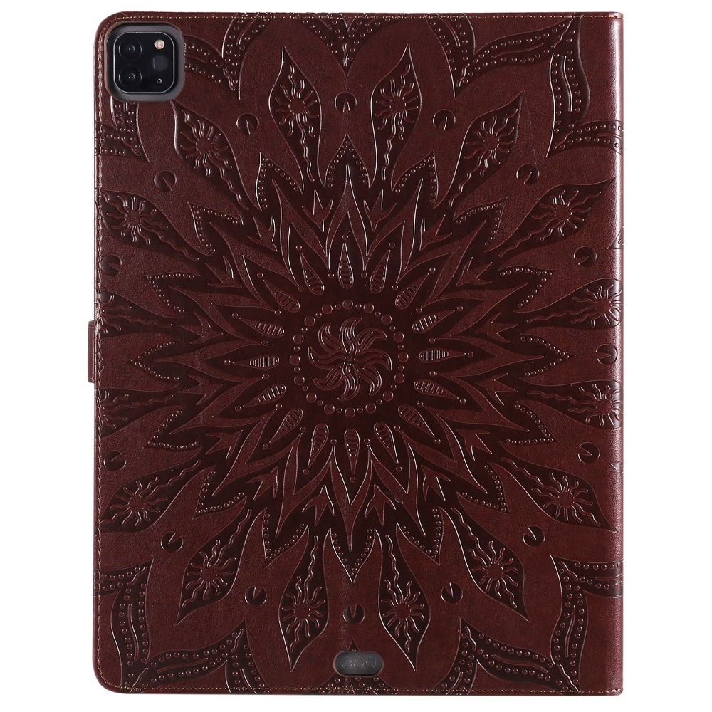 Cover 3D 12 Pro 2020 Flower iPad Skin Shell 9 Leather Case for Embossed Protective