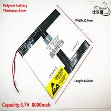 Litro bateria de energia Bom Qulity 3.7 V, 8000mAH 40125140 bateria De Polímero de iões de lítio/BANCO de bateria Li-ion para tablet pc, GPS, mp3, mp4