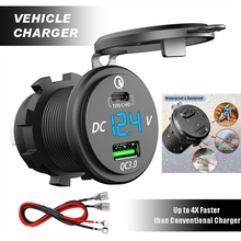 Type-C PD and QC 3.0 Fast Charging USB Car Charger for Motor