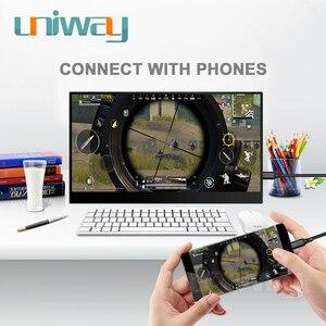 Image 2 - Uniway 13.3 inç taşınabilir monitör için c tipi hdmi bağlantı noktası dizüstü bilgisayar telefonu için xbox anahtarı ps3 ps4 oyun monitörü