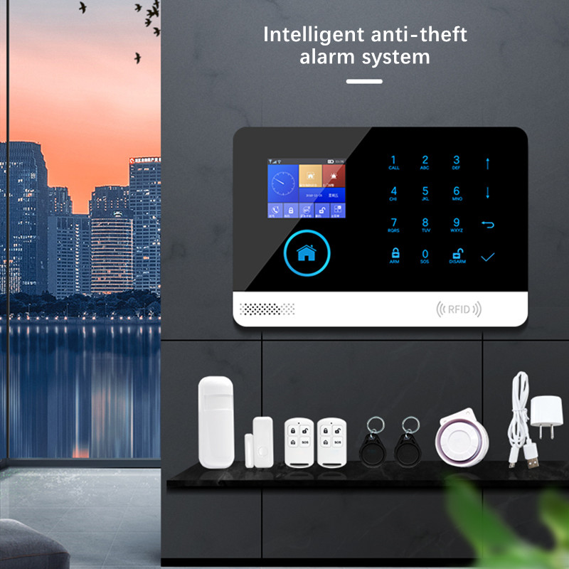 Security Alarm System Switchable Wireless Home Security WIFI GSM GPRS Alarm System APP Remote Control RFID Card Arm Disarm|Sensor & Detector| |  - title=