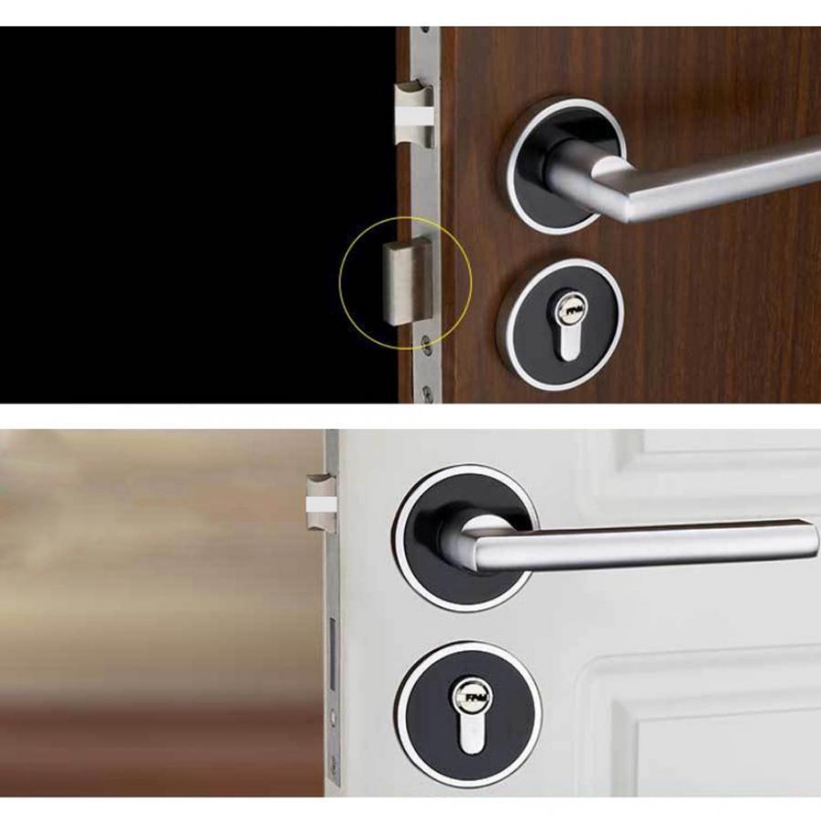 Manija duradera Cerradura de la puerta Cilindro Delantero Puerta trasera Palanca Pestillo Seguridad del hogar con llaves