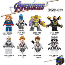 8 unids/set vengadores 4 Endgame superhéroe Legoings modelo bloques de construcción Thanos Iron Man x-men Hulk Iron Man juguetes para los niños(China)