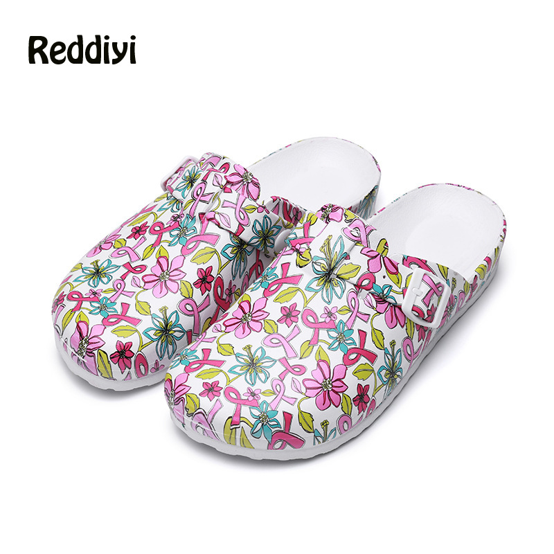 Women's Medical Slippers EVA Non-slip Adjustable Nurse Clogs Flat-soled Operating Shoes Non-slip Clean Shoes Nursing Clogs