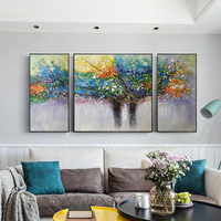 Life tree Pictures sofa background oil painting Nordic Style Modern Decoration Posters Prints Wall Art For Living Room NO FRAME
