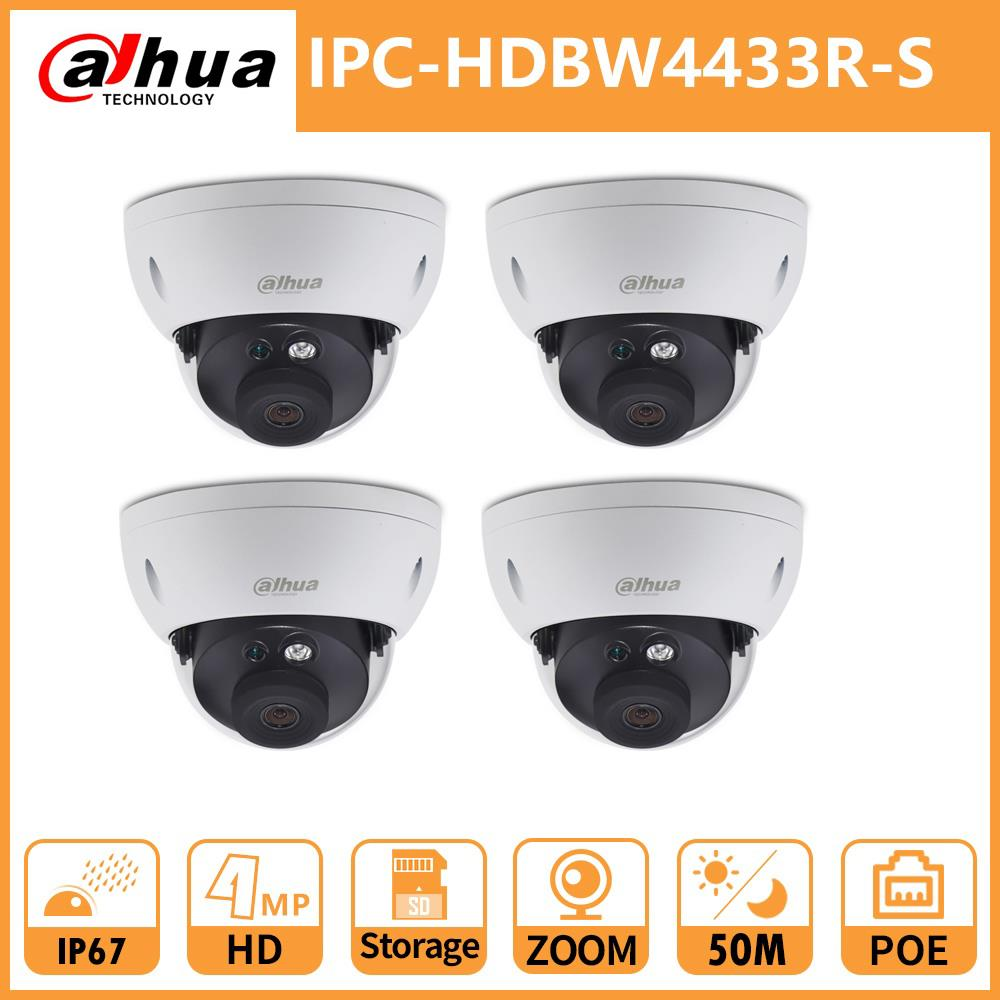 Dahua IP Camera DH IPC-HDBW4433R-S 4MP ZOOM Security Dome CCTV Camera POE Onvif Network HD IR50M IP67 SD Card Slot