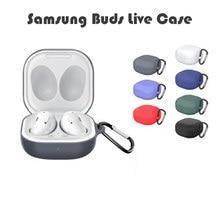 Weiche Silikon Fall Candy Farbe für Für Samsung Galaxy Knospen Live Drahtlose Bluetooth Kopfhörer Schutzhülle Box Mit Schnalle