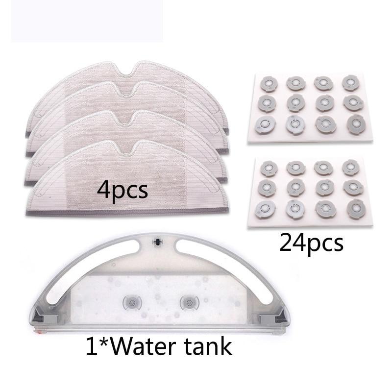 Robot Roborock Vacuum Cleaner Water Tank Set For Vacuum 2 Roborock S50 S51 T60 T61  Robot Vacuum Cleaner Mop Cloth Parts