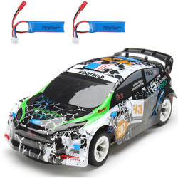 Hot Wltoys K989 with 2 Batteries 1/28 2.4G 4WD Brushed RC Car Alloy Chassis Vehicles RTR Model with Transmitter Kids RC Toys