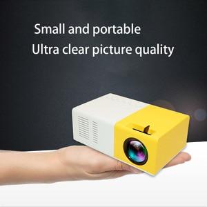 Image 1 - J9 PK Yg 300 מיני מקרן Led HD 1080P עבור AV USB מיקרו SD כרטיס USB מיני בית מקרן נייד מקרן כיס צהוב