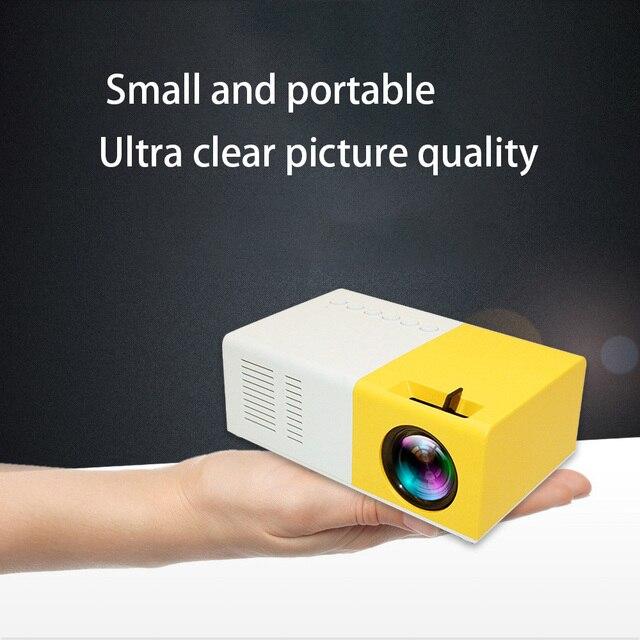 J9 PK Yg 300 מיני מקרן Led HD 1080P עבור AV USB מיקרו SD כרטיס USB מיני בית מקרן נייד מקרן כיס צהוב