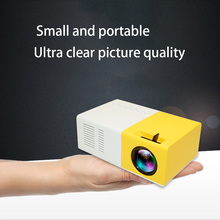 J9 PK Yg 300 Mini Projector Led HD 1080P For AV USB Micro SD Card USB Mini Home Projector Portable Pocket Beamer Yellow