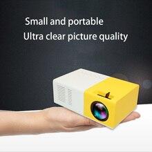 J9 PK Yg 300 Mini Projektor Führte HD 1080P Für AV USB Micro SD Karte USB Mini Hause Projektor tragbare Tasche Beamer Gelb