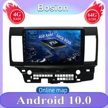 10.1 인치 1 DIN 안 드 로이드 10.0 자동차 라디오 forMITSUBISHI 랜 서 GPS 라디오 비디오 플레이어 2007-2016 후면보기 카메라 4G RAM