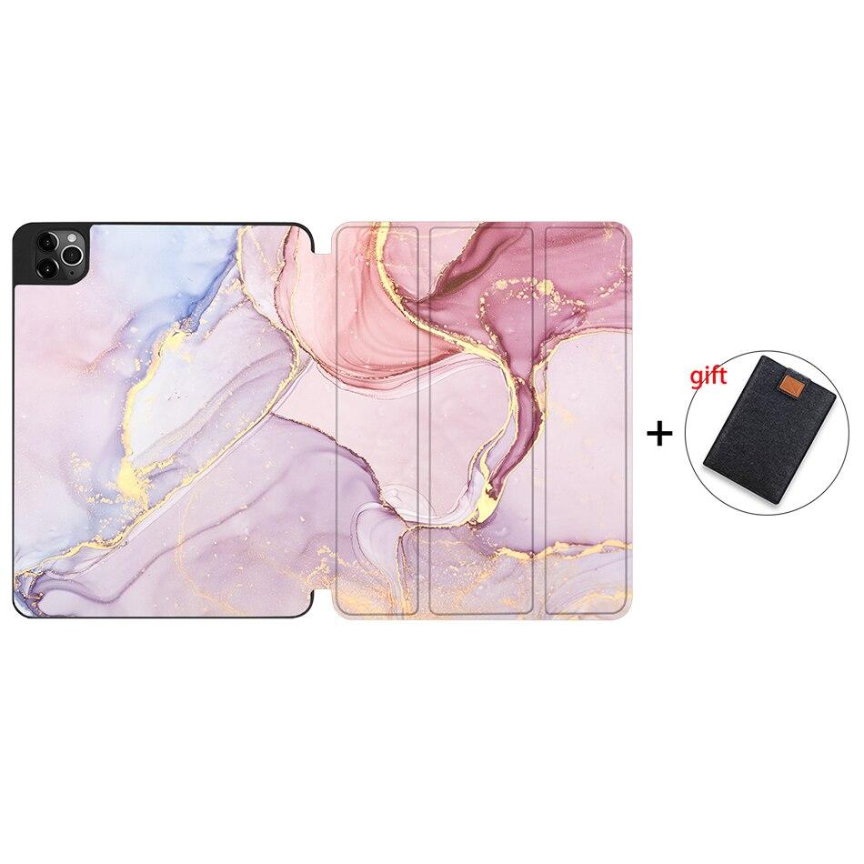 IPTPU08 Purple MTT Soft TPU Case For iPad Pro 11 inch 2nd Gen 2020 Tablet PU Leather Flip