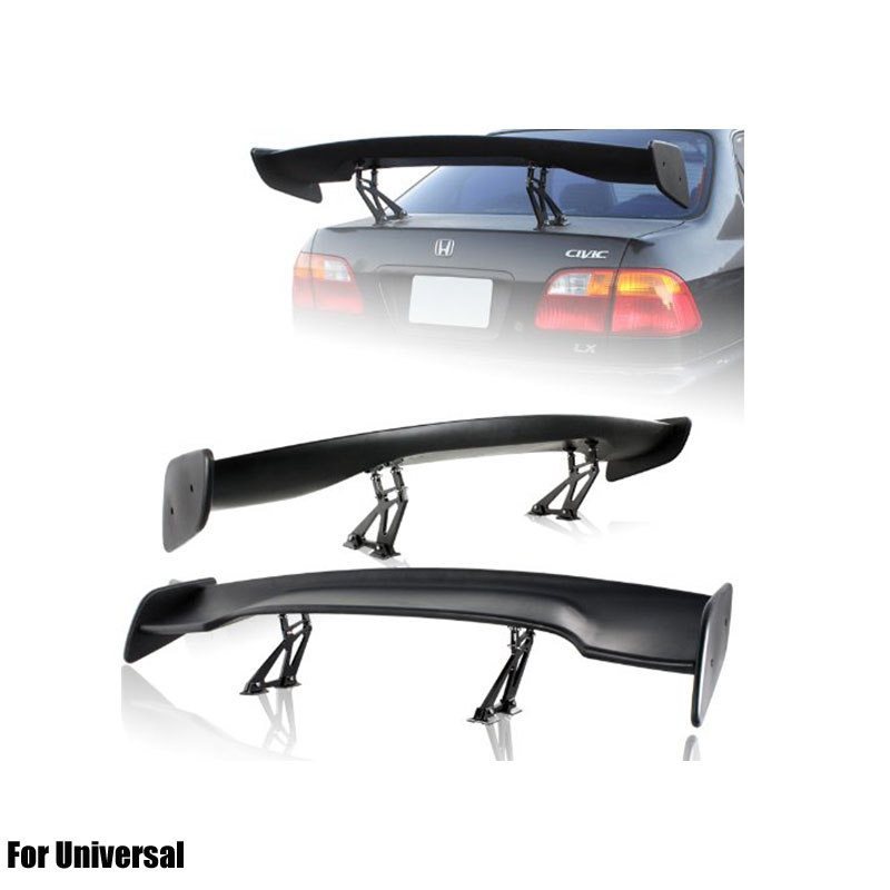 Racing spoiler, universal spoiler, for BMW f30 e90 spoiler, for ford fusion spoiler, GT ABS carbon fiber rear wing image