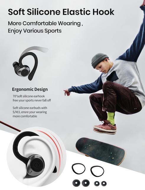 TWS In-Ear Earbuds Wireless Bluetooth 5.0 Earphones Sport Buds Headphones 3D Stereo Sound with Mic Running Waterproof IPX7 3