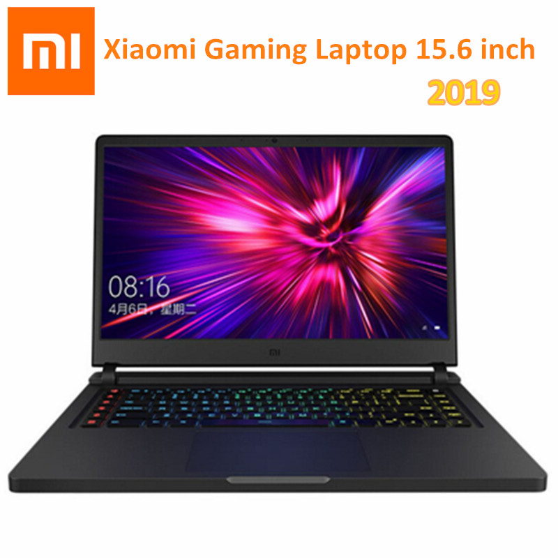 2019 Xiaomi ordinateur portable de jeu 15.6 pouces Windows 10 OS Intel Core i7-9750H Hexa Core CPU 16GB 512GB ROM 1.0MP HD caméra portable