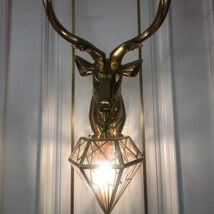 Image 4 - BDBQBL Vintage Creative LED Christmas Deer Antler Wall Lamp Deer Lamp Bedroom Buckhorn Kitchen Bar Decor Luminaire