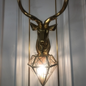 Image 4 - Bdbqbl Vintage Creatieve Led Kerst Herten Gewei Wandlamp Herten Lamp Slaapkamer Buckhorn Keuken Bar Decor Armatuur