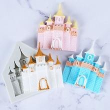 1PC Princess Castle Sugar Car Mold Silicone Mold DIY Cake Mold Castle Chocolate decorationPlaster Drop Sugar Mold Sugar Skull sugar street