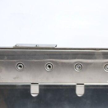Griglia Portatile Elettrica | Barbecue Grill Di Rotolamento All'aperto Larghezza Regolabile Ricaricabile Portatile Di Campeggio Di Picnic Del Carbone Di Legna Elettrico In Acciaio Inox Automatico
