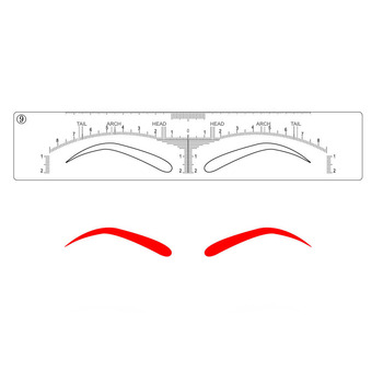 10 pieces Eyebrow Stencils Stickers Microblading Permanent Makeup Supplies Disposable Eyebrow Mold Template Drawing Guide