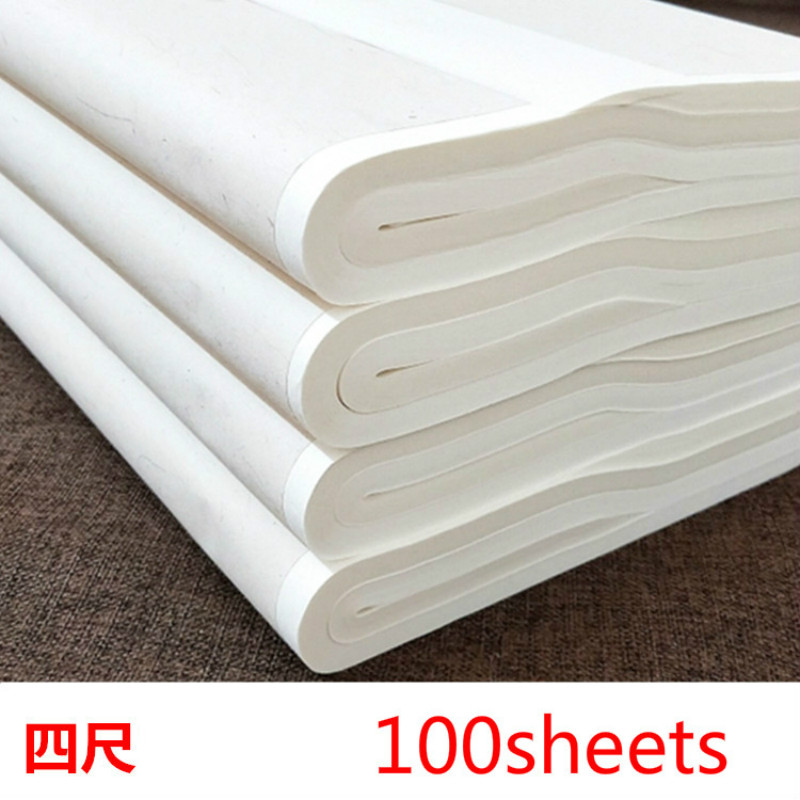 Bamboo Paper Raw Ripe Xuan Paper Painting Calligraphy Half Ripe Rice Paper Rijstpapier Carta Di Riso Shoji Paper 100sheets