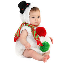 Infant Baby Boys Girls Christmas Xmas Snowman Modelling Fleece Romper Scarf Sets(China)