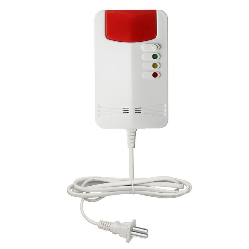 Smart Gas Leak Detector Natural Gas Alarm Sensor Propane Butane Methane Analyzer Alarm Warning Home Security Indicator Light(EU