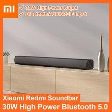 Xiaomi redmi mi tv soundbar 30w sem fio de montagem na parede do cinema em casa alto-falante bluetooth 5.0 aux spdif mi barra de som para tv pc