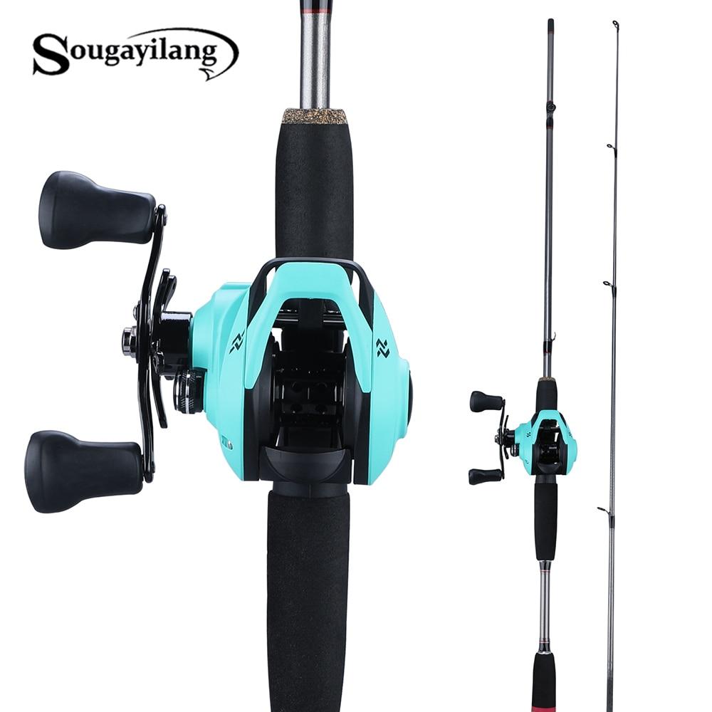 Sougayilang 1.8m Super Leggero Casting Canna Da Pesca M Potere Richiamo 2 Sezione Azione Veloce Canna Da Pesca Set Richiamo Peso casting Bobine di Set