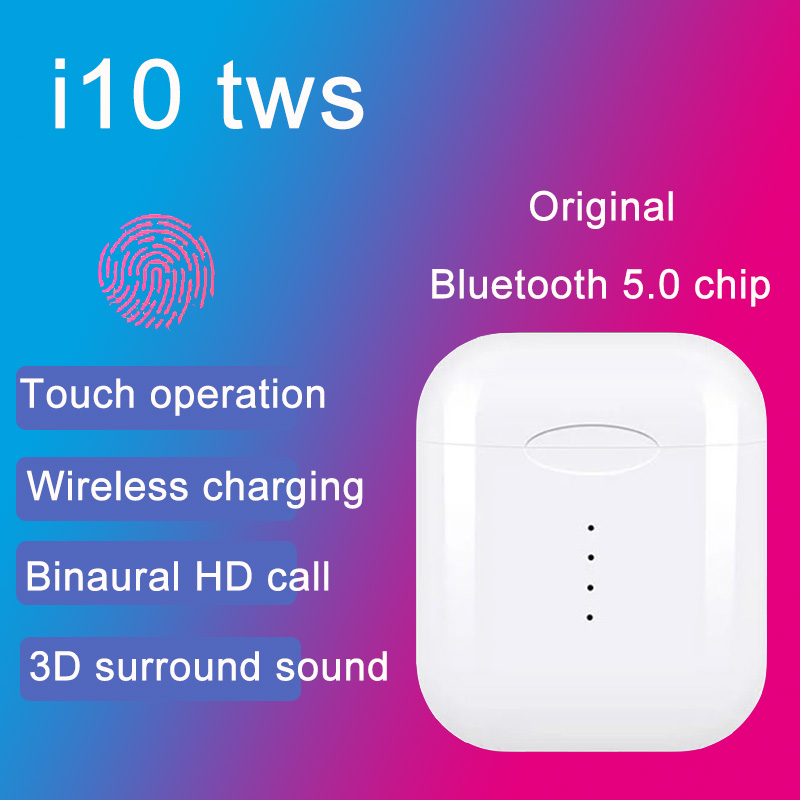 i10 tws i9s tws wireless charge support Earphones Wireless earphone Bluetooth 5 0 Earbuds Touch control