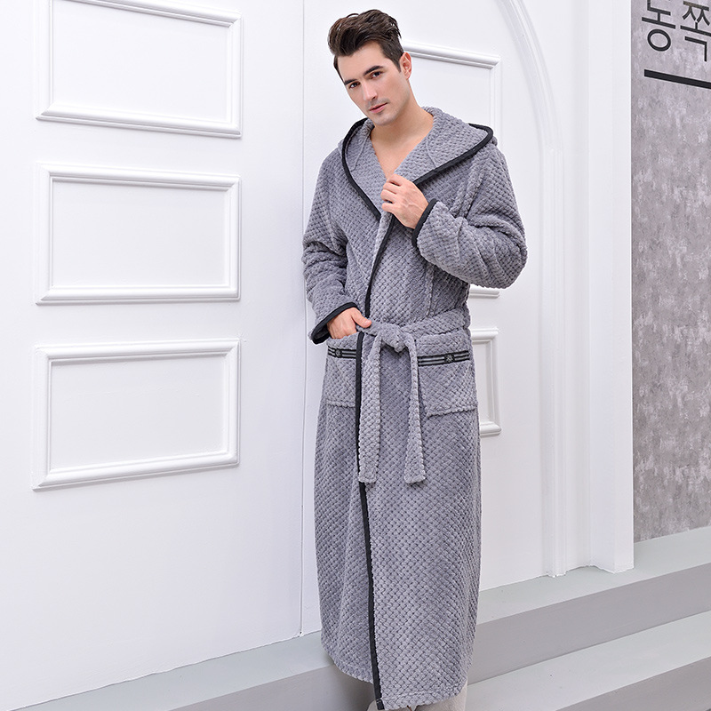 Lovers Winter Robes Long Flannel Coral Fleece Warm Solid Bathrobe Women Men Kimono Pink Bath Robe Bridesmaid Sexy Dressing Gown