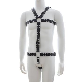 Fetisch Männer Brust Leder Top Einstellbar Männer Gürtel für BDSM Bondage 1