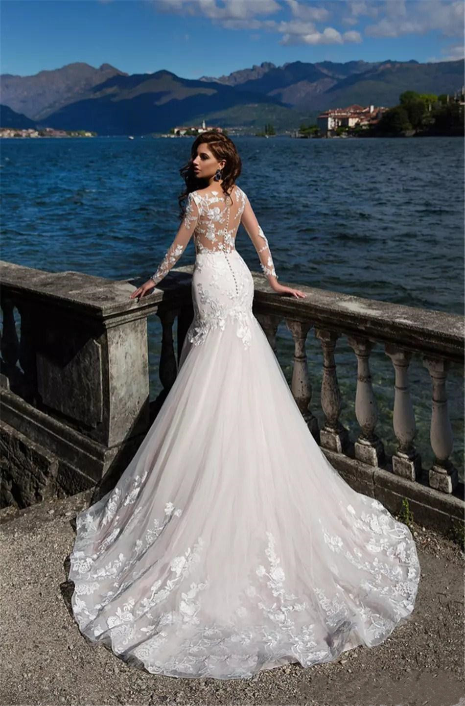 2020-new-african-mermaid-wedding-dresses-sheer-long-sleeves-tulle-lace-appliques-sheer-neck-sweep-train-sexy-illusion-formal-bridal-gowns (2)