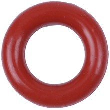 Flexible sealing ring / O-ring, made of silicone, 8 x 14 x 3 mm, brick red, 10 pieces(China)