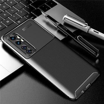 Перейти на Алиэкспресс и купить Чехол из углеродного волокна для Xiaomi Mi Note 10 Lite, чехол для Redmi 9 Note 9 S 8T 8 Pro 7 Pocophone F1, чехол для телефона, бампер Mi 9 SE 9T A3 Max 3
