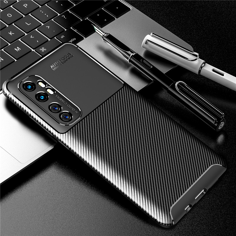 Carbon Fiber Case For Xiaomi Mi Note 10 Lite Case Redmi 9 9A 9C Note 9S 8T 8 Phone Cover Poco F2 Pro Pocophone F1 Mi 9T A3 Max 3(China)
