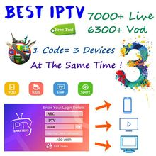 World IPTV Subscription 7800 Live 6000 VOD Adult IPTV French Spain Brazil tv