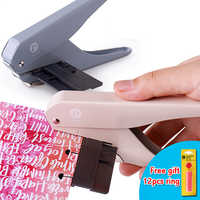 T-type Mushroom Hole Punch Paper Cutter Tool DIY Loose-Leaf Scrapbook Hole Puncher School Paper Cutter Office Binding Stationery