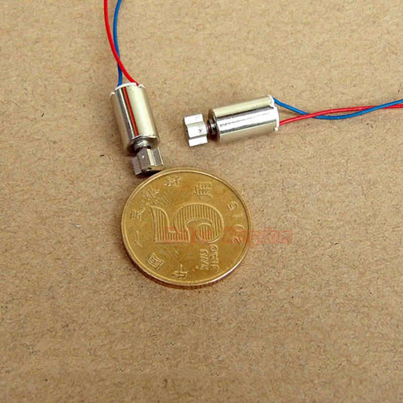 Micro 6mm * 10mm tasse creuse sans noyau moteur de Vibration DC 3V 5V vibrant moteur électrique bricolage masseur