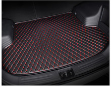 SJ Car Trunk Mat Tail Boot Tray Auto Floor Liner Cargo Carpet Luggage Mud Pad Accessories Fit For VOLVO XC90 2015 16 17 18 2019(China)
