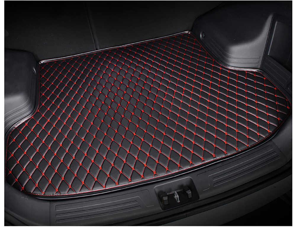SJ alfombrilla de maletero de coche bandeja de bota de cola de coche forro de alfombra de carga de equipaje accesorios de almohadilla de barro apto para SKODA excelente 2015 16 17 18 19