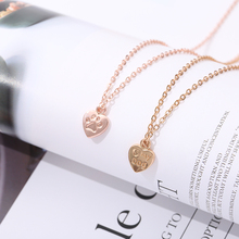 кулонNew personalized love pendant necklace fashion jewelry geometric charm golden romantic ladies gift